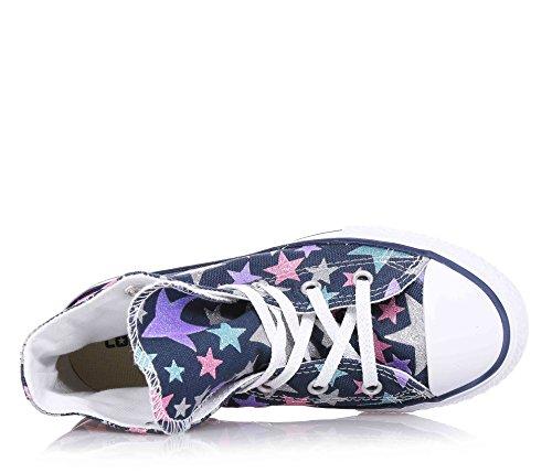 CONVERSE - Zapatilla deportiva azul marino con cordones, glitter, Niña, Niñas