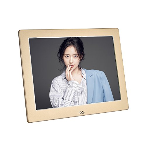 8 Inch Digital Photo Frame- Metal Electronic Picture Frame with 1024×768 High Resolution Display & Remote Controller Support SD/ MMC /MS Card/USB Port