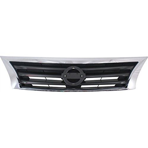 Elite7 OE Grille Grill Assembly NI1200250 For 13-15 Nissan Altima SEDAN Chrome Shell with Gray Insert