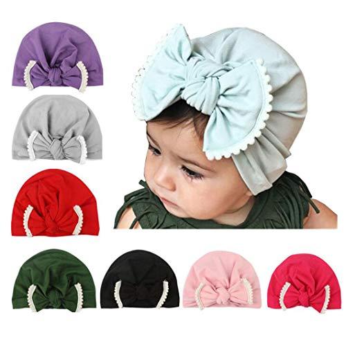- AKAISIHN Baby Girl Hat Newborn Turbans Hat Baby Girl Headwraps Knot Beanie Hat for Infant