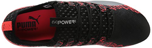 PUMA Mens Evopower Vigor 2 Graphic FG Soccer Shoe Puma Black-silver-fiery Coral XViMAYUenp