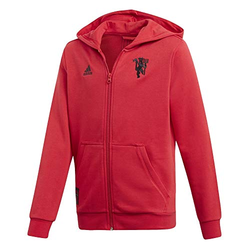 adidas Manchester United Full-Zip Hoodie, Real Red, Large