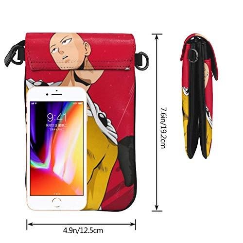 Hdadwy Mobiltelefon crossbody väska en stans man kvinnors crossbody handväskor handväska lätta väskor läder mobiltelefon hölster plånbok fodral axelväskor med justerbar rem