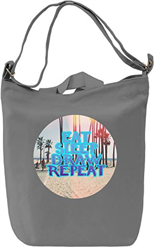Repeated Borsa Giornaliera Canvas Canvas Day Bag| 100% Premium Cotton Canvas| DTG Printing|