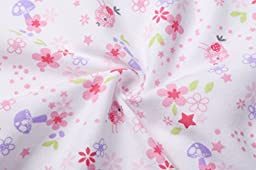 Baby Girls\' Footed Pajama - Zip Front 100% Cotton Floral Sleeper 12 Months Sleep and Play