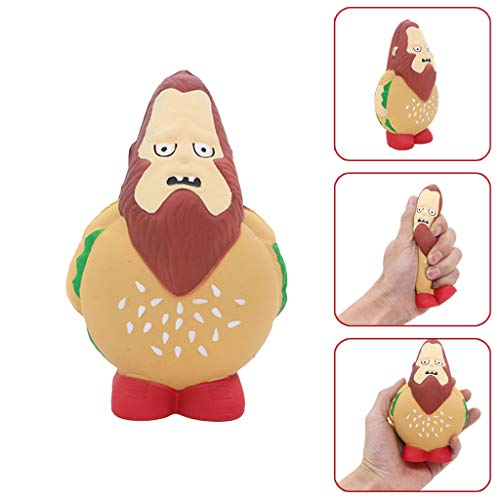 WFFO Slow Rising Squishy Toy, Burger Style Stress Reliever Scented Super Slow Rising Kids Squeeze Toy (Multicolor)