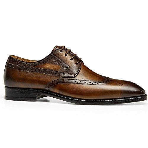 Gifennse Suela De Cuero Hecha A Mano Para Hombre Moderno Clásico Con Cordones De Cuero Perforado Vestido De Zapatos Oxford Brown-1