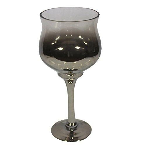 16 x 7 Essential D/écor Entrada Collection  Two Tone Glass Vase