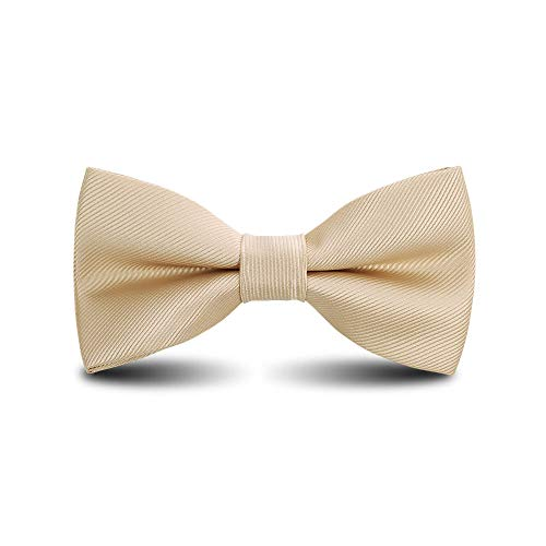 Men's Bow Ties Classic Pre-tied Adjustable for Boy in Gift Box Ties,by Anrinwei (Champagne) (Champagne Tie For Boys)