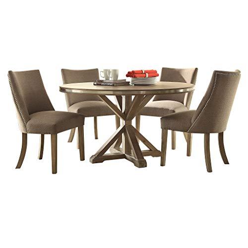 (Homelegance Beaugrand 5-Piece Dining Set, Oak)