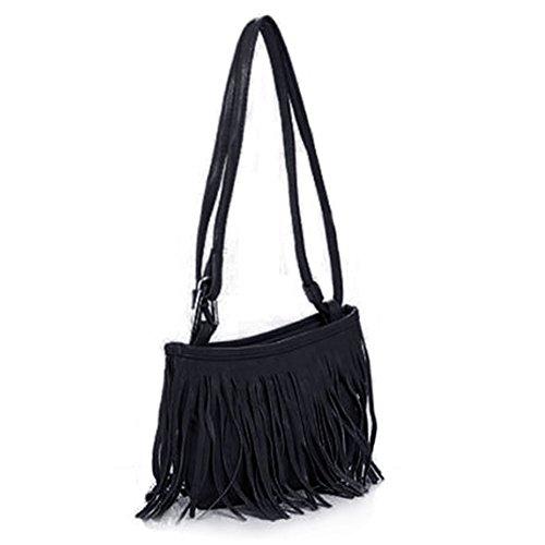 OUTEYE Damentasche Tasche Umh?ngentasche Schultertasche Tassel Fransen Handtasche Shoulder Bag