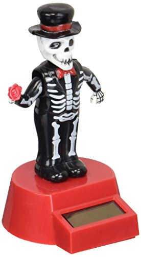 Fun and Cute Toys Halloween Solar Skeleton Groom Solar Powered Dancing Figure for Halloween or Over The Hill by Momentum Brands]()