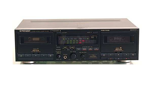 Pioneer CT-W530R Synchro Recording Stereo Dual Double Cassette Tape Deck With Dolby NR Complete with AV cables and digital Instruction Manual Audio Music