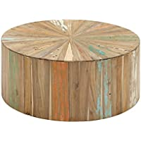Benzara Artistic and Lovely Natural Reclaimed Wood Coffee Table