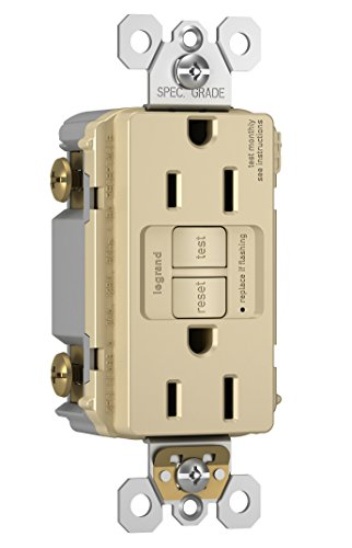 Legrand-Pass & Seymour 1597TRICC4 Self-Test GFCI Receptacle Outlet with Wall Plate, 15Amp 125V, Ivory by Pass & Seymour (Image #1)