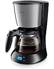 Philips Koffiezetapparaat Daily Collection - Zet 2 tot 15 kopjes - Met glazen kan - Waterreservoir 1.2 liter - Druppelstop - Automatische uitschakeling - Timer - Waterniveau indicator - HD7459/20