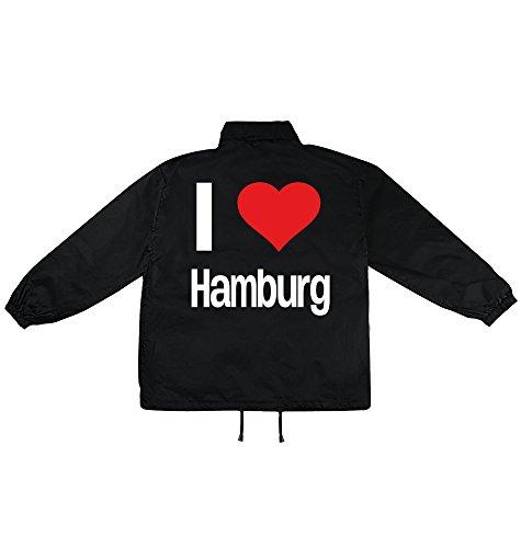 i love Hamburg Motiv auf Windbreaker, Jacke, Regenjacke, Übergangsjacke, stylisches Modeaccessoire für HERREN, viele Sprüche und Designs