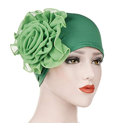 - Hat for Women Sun Protection,Fashion Women India Hat Muslim Ruffle Cancer Chemo Beanie Floral Turban Wrap Cap,Men's Novelty Shirts,Green,One Size