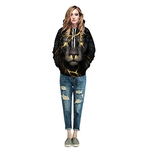 MagiQK Hoodie, Halloween Punk Sweatshirts, Funny 3D Printing Street Snap Lover's Hoody, Leone Pullover (L/XL, Women)]()