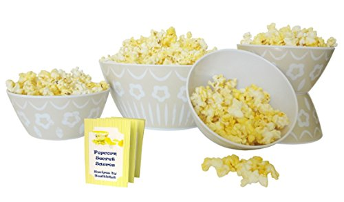 [Top Stone Set Gourmet Popcorn Snack Bowl Set Family Game Night NFL Football Party Supplies Popular Fun Unique Stocking Stuffer Present Idea Her Dad Grandparent Couple Newlywed Parent Mother] (Costume Party Ideas For Couples)