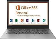 "2019 Lenovo 14"" HD Laptop Computer, Intel Celeron N3350 up to 2.4GHz Processor, 2GB RAM, 32GB eMMC Flash Memory, HDMI, 802.11AC WiFi, Bluetooth 4.0, USB 3.0, 1-Year Microsoft Office 365, Windows 10"