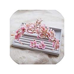 Pink Crystal Crown Tiara Set