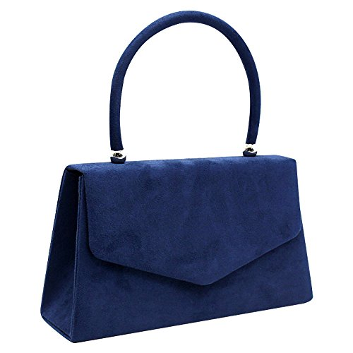 Bag Purse Clutch Velvet Womens blue Bag Envelope Girls Navy Bag Wedding Tote Party Wocharm Suede Prom 7wIppT