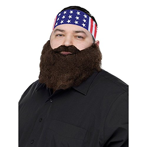 FunWorld Duck Hunter Disguise, Bandana and Brown Beard, One Size Costume]()