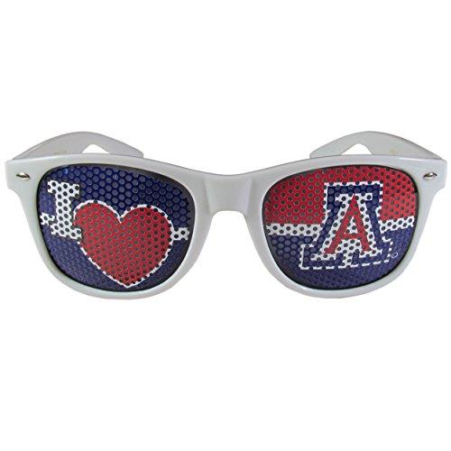 Arizona Wildcats Heart (NCAA Arizona Wildcats I Heart Game Day Shades, White,Adult,White)