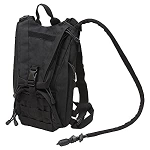 "SEAL3 Hydration Pack with 2.5 L Backpack Water Bladder By Infinity3. Tactical, Military, Molle, Survival Gear. Fits Men, Women & Teens with Chest Sizes 27""-50"". Lightweight for Hiking-Running-Cycling"