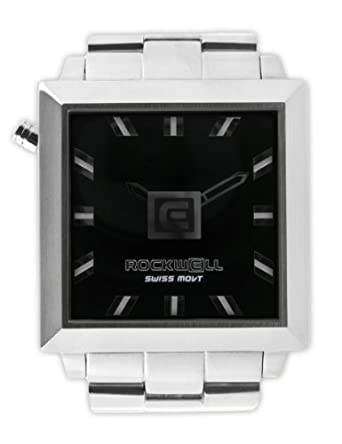 Rockwell 50mm2 Squared Silver- Black FS102 Armbanduhr