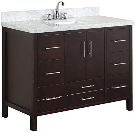24 Antique Debellis Bathroom Single Sink vanity w Granite Top BWV-047GT