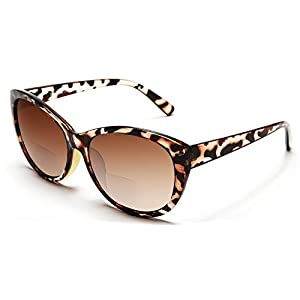 Women's Bi-Focal SunReaders Fashion Wayfarer Sunglasses Brown Tortoise Rx 1.00