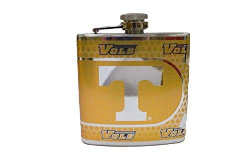 NCAA Tennessee Volunteers 6oz Stainless Steel Hip Flask Wrap