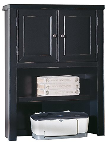 kathy ireland Home by Martin Tribeca Loft Black Hutch with Doors - Fully Assembled by Martin Furniture