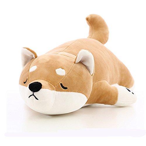 "UNIQME Dog Plush Doll Stuffed Shiba Inu 3D Animal Zoo Pet Throw Bed Nursery Decoration Baby Play Toy Puppy Shape Sleeping Pillow Gift for Girl Boy 21.6"", 21.6inch"