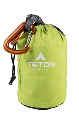 TETON Sports Firefly Hammock with Climbing-Rated Carabiners – Lightweight Portable Hammock More Comfortable Than Parachute Nylon Hammock for Backpacking, Camping, Travel, Beach, and Yard