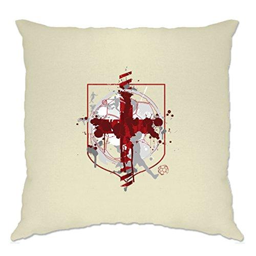 Bandera de Inglaterra playera de fútbol funda de cojín, Natural, Una talla, 1