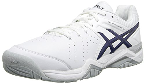 ASICS Men's Gel-Encourage Le Tennis ShoeWhite/Navy/Black12 M US