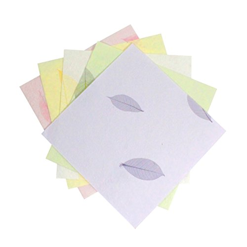 Handmade Decorative Paper (Paperbilities Handmade Acid Free Paper - 5-Colors - 15 Sheets)