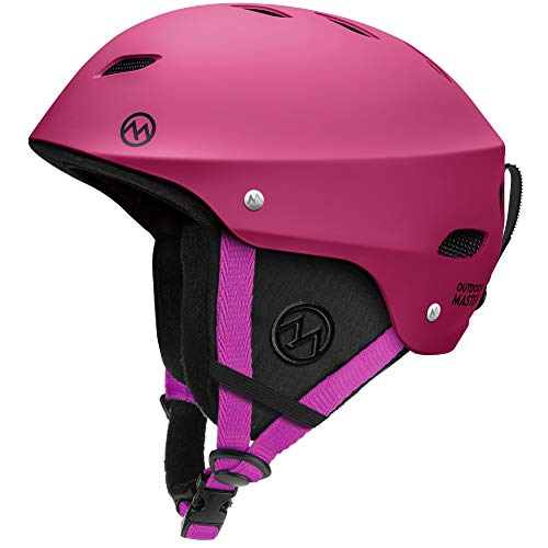 Image of the OutdoorMaster Ski Helmet - with ASTM Certified Safety, 9 Options - for Men, Women & Youth (Pink,L)