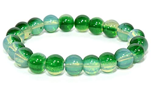 8mm 21pcs Blue/Green Beads Man-Made Crystal Quartz Bracelet Polished Barrel Spheres Decor Specimen - China -