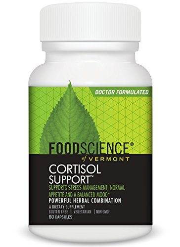 FoodScience of Vermont- Cortisol Support, Stress Management Supplement, 60 capsules