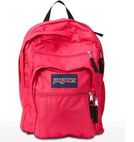 Jansport Big Student Backpack - Pink Tulip