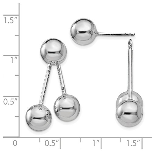 22mm Sterling Silver Polished Ball Post Earrings by JewelryWeb (Image #1)