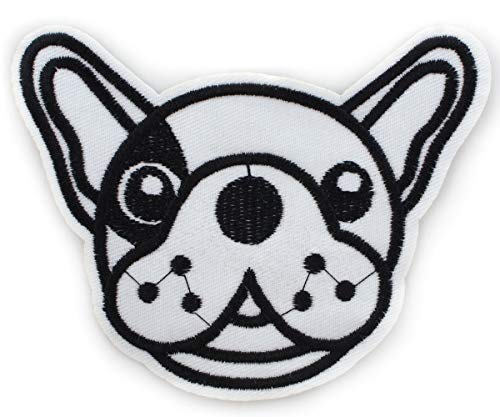 1pc Black Dog French Bulldog Sew-on Embroidered Sewing Applique Patch DIY Art Gift Costume Badge for Jeans Jacket Clothes 115mm x 95mm ()