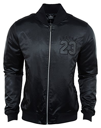 Jordan The Air Jordan 6 Bomber Men's Jacket features smooth fabric in a classic design for a comfortable fit and iconic look. mens athletic-warm-up-and-track-jackets 833918-010_XL - Black by Jordan