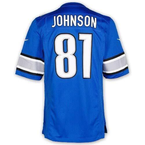Johnson #81 Detroit Lions Child(4-7) Replica Jersey-Child 4 (Small) ()