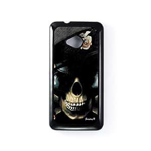 Policeman Carcasa Protectora Snap-On en Plastico Negro para HTC® One M7 de Gangtoyz + Se incluye un protector de pantalla transparente GRATIS