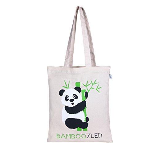 Printed Canvas Bags - EcoRight Reusable 100% Cotton Canvas EcoFriendly Zipper Tote Bag Printed
